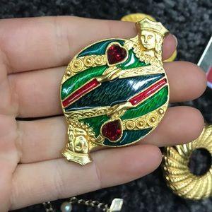 Vintage Jewelry - U Pick! Vintage Golden Queen Of Hearts Jewelry
